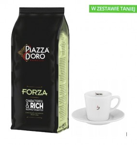 PIAZZA DORO FORZA + FILIŻANKA JACOBS 140 ML